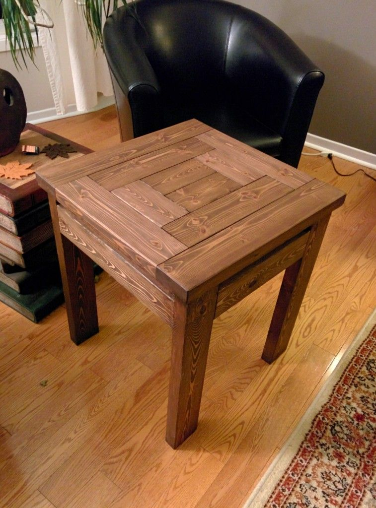 2x4 End Table With Walnut Stain Woodworking In 2019 Diy End