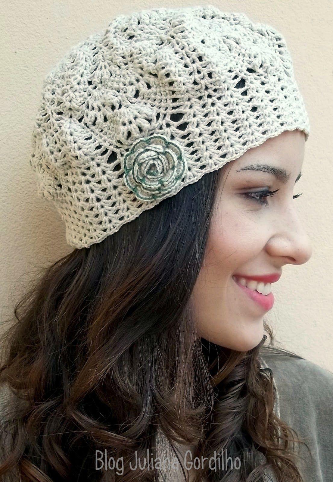 Blog Juliana Gordilho: Boina artesanal | boina e touca croche ou ...