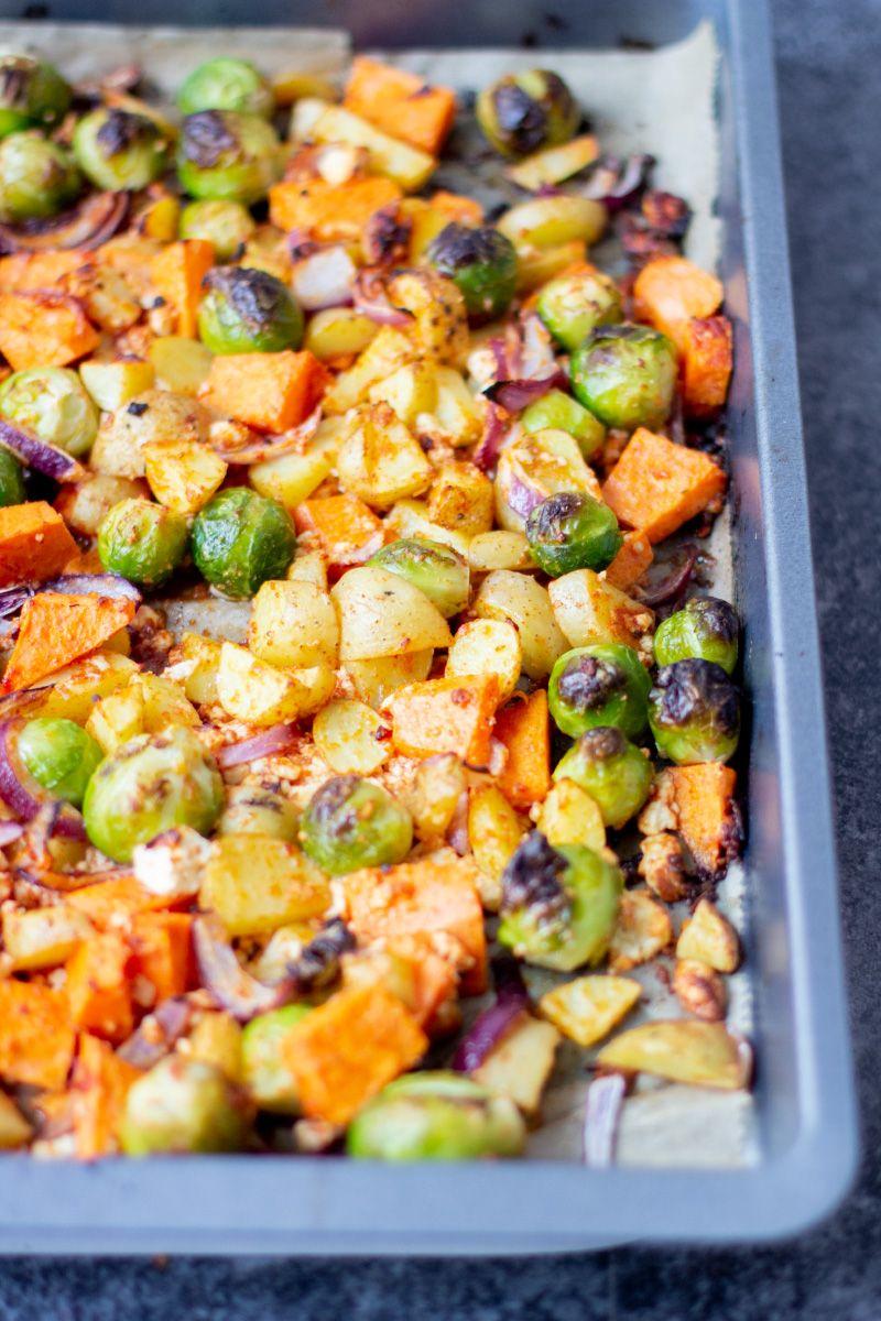 Schnelles Ofengemüse mit leckerem Wintergemüse #veganermaulwurfkuchen