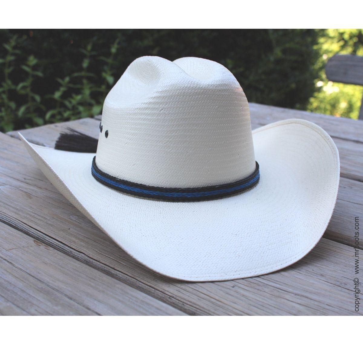 Au Hh05 Tbl Horse Hair Hat Band Thin Blue Line Horse Hair Hat Band Cowboy Hat Bands Hat Band