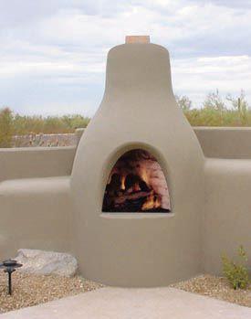 El Pueblo Kiva Fireplace Kit Outdoor Fireplace Patio Outdoor Fireplace Backyard Fireplace