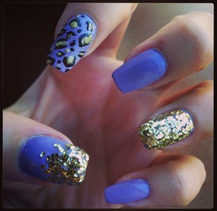 new nails purple gold glitter sparkle 29 ideas nails