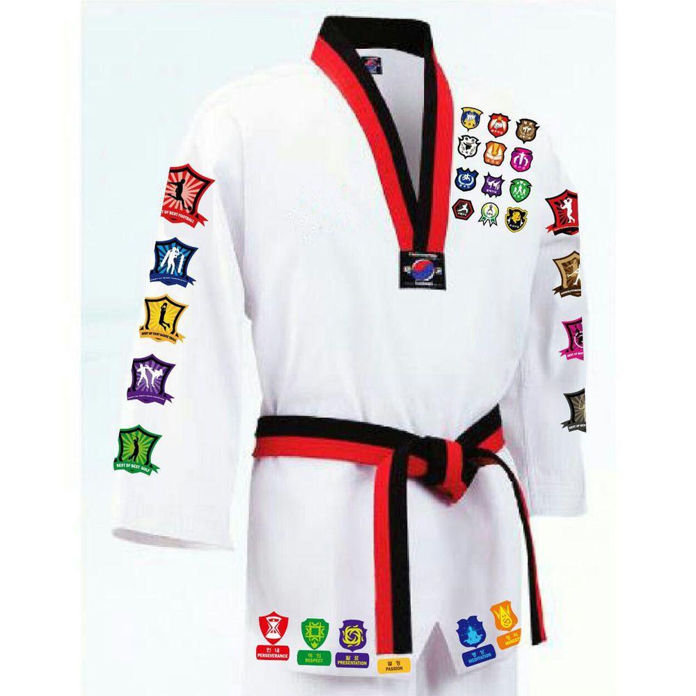 MUDOIN Black Open Taekwondo Uniform WTF Poom TKD Martial Arts Aikido Hapkido MMA