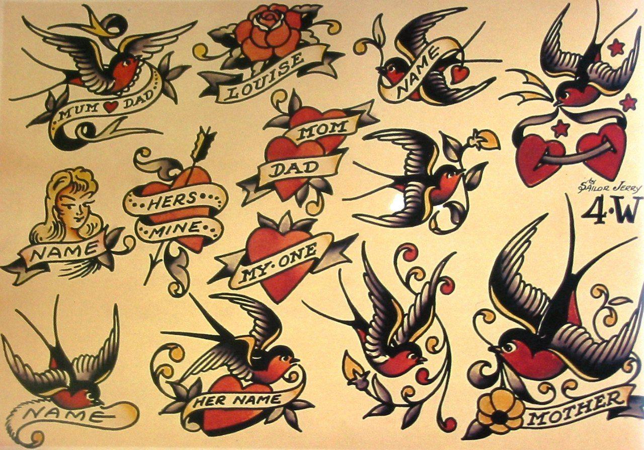 Sailor Jerry Tattoo Flash Volume 1 – 53 photos | VK ... - photo#7