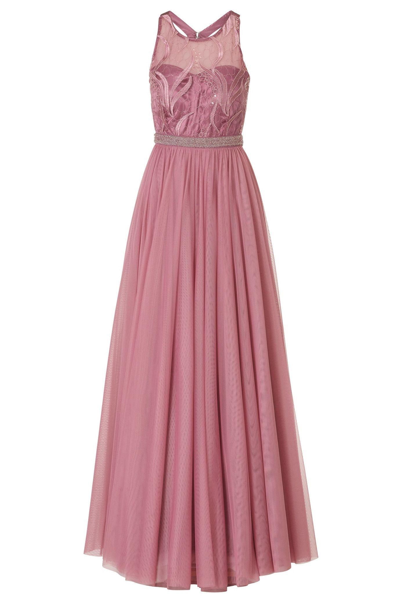 Ruckenfreies Abendkleid In Altrosa Von Vera Mont In 2020 Brautjungfern Kleider Ruckenfreies Kleid Abendkleid