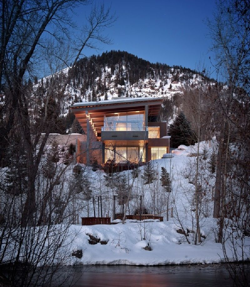 Anchored In A Harsh Terrain In The Rocky Mountains: The