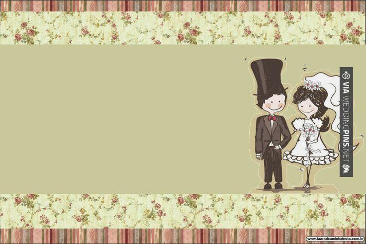 Love this - Invitaciones de boda para imprimir Bodas Pareja con