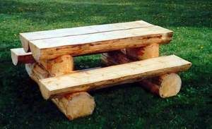 Amazing Picnic Table | Log Furniture: Log Picnic Table; Builder Located In Ontario,  Canada