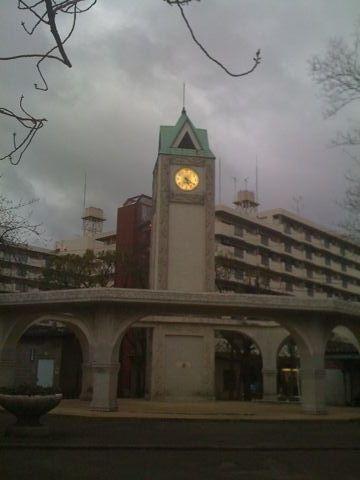 赤羽公園の時計台。