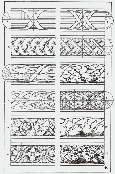 """You could use this in your Zentangle practice. From, """"A Handbook of Ornament"""". 1898 by Franz Sales Meyer."""