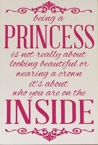 Being A Princess Wall Plaque Inspiration Quotes Princess
