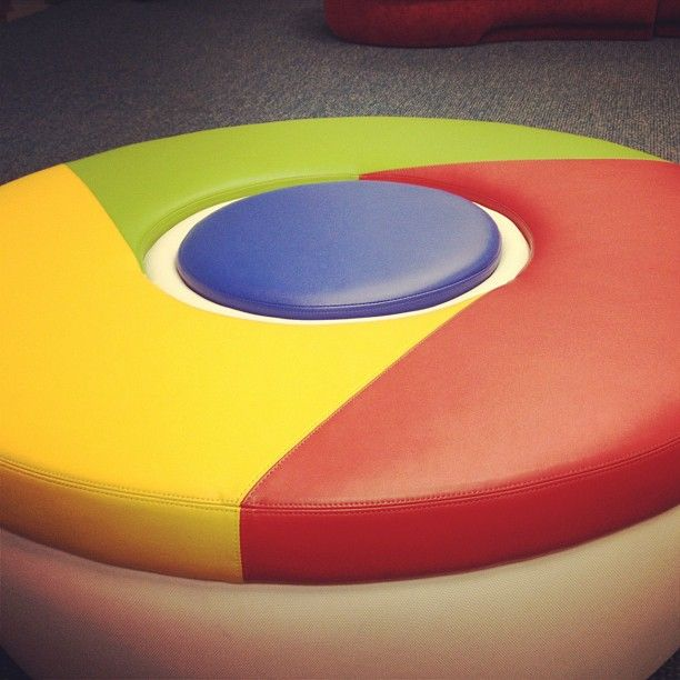 Sweet @Google chrome foot stool!