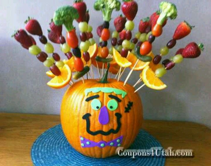 Great way to serve fruit at a kids Halloween party A little harder - kid halloween party ideas