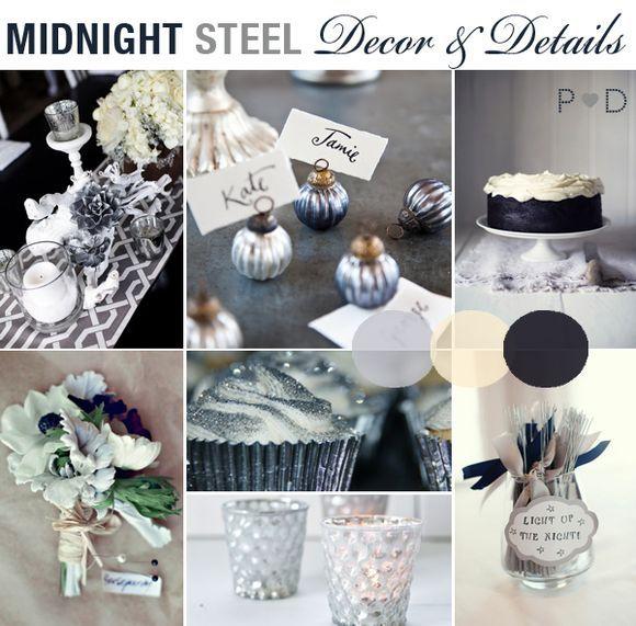 Midnight Blue Wedding Decorations: Bridal Inspiration Board #18