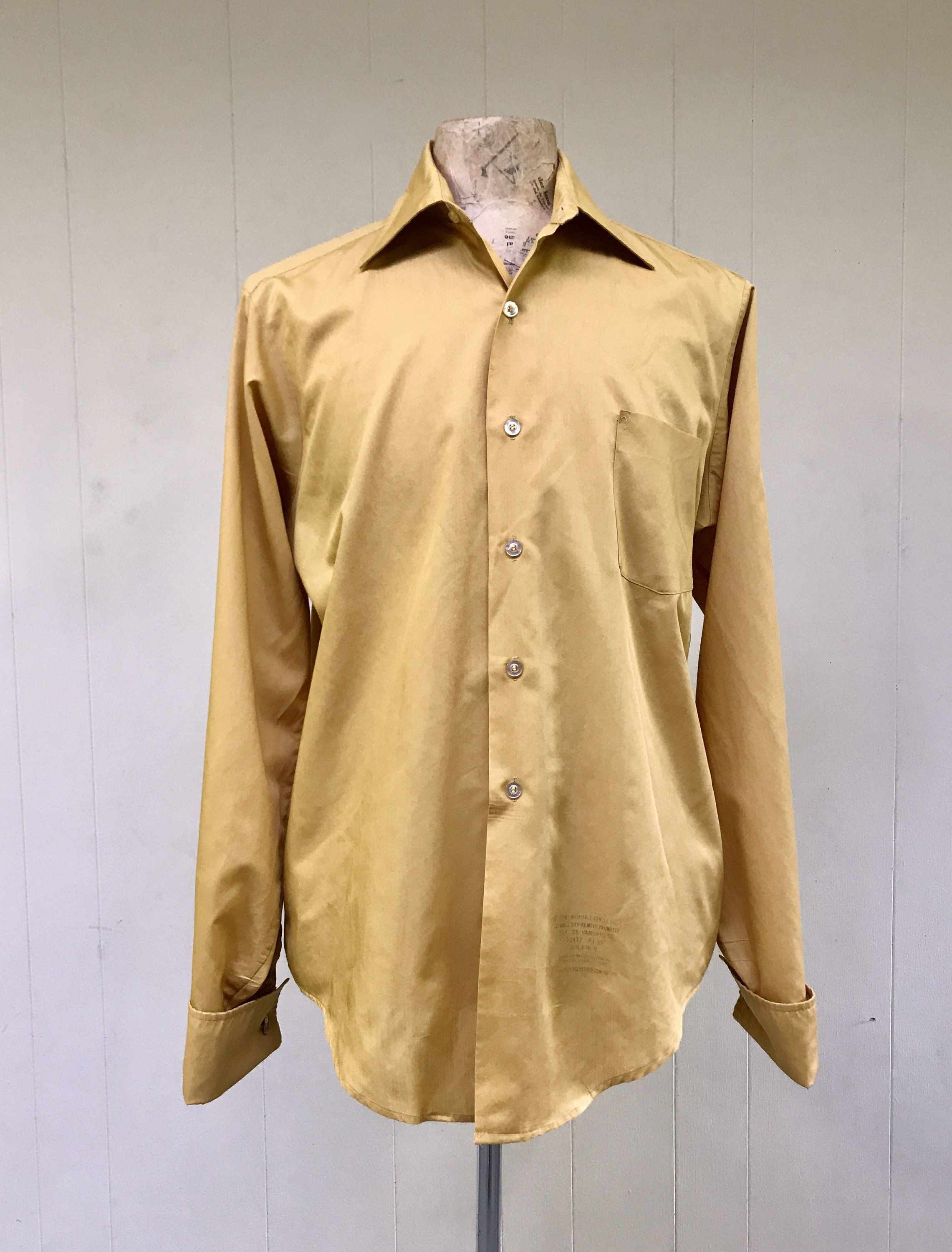 1970s oxford shirt vintage fall gold button down