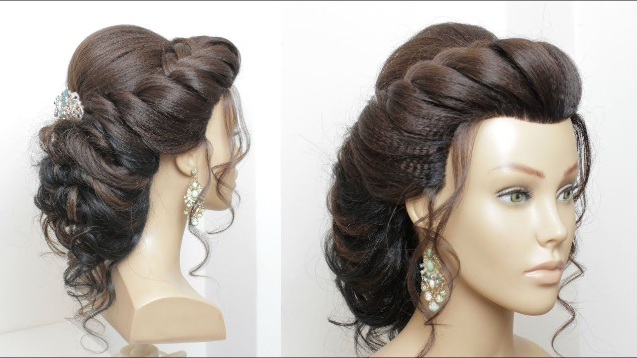 Beautiful Hairstyle For Wedding Party Function Bridal Updo Youtube Long Hair Updo Hair Styles Long Hair Styles