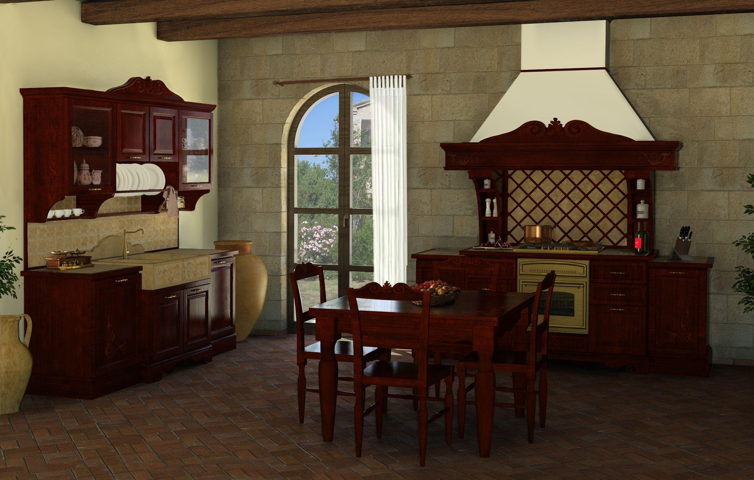 Blocco lavello, blocco cucina, tavolo e sedie #artigianato #legno ...