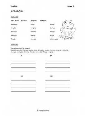 Dit werkblad en nog veel meer in de categorie spelling - verkleinwoorden kun je downloaden op de website van Juf Milou.