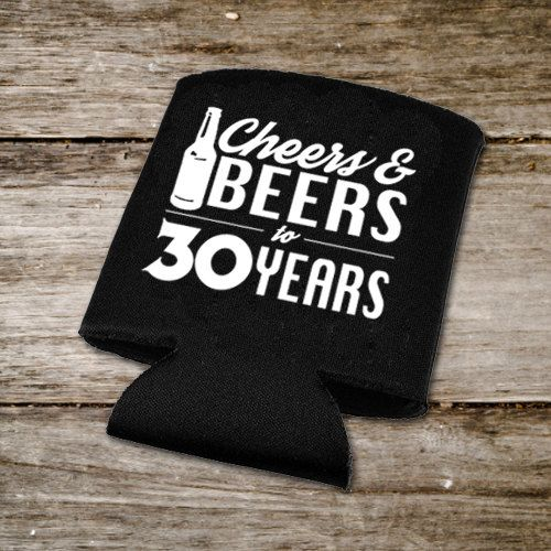 Cheers & Beers Decal, 30th Birthday Drink Huggers DIY