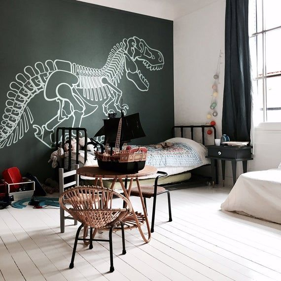 wall stickers for kids room t rex dinosaur large wall on wall stickers for kids id=59222