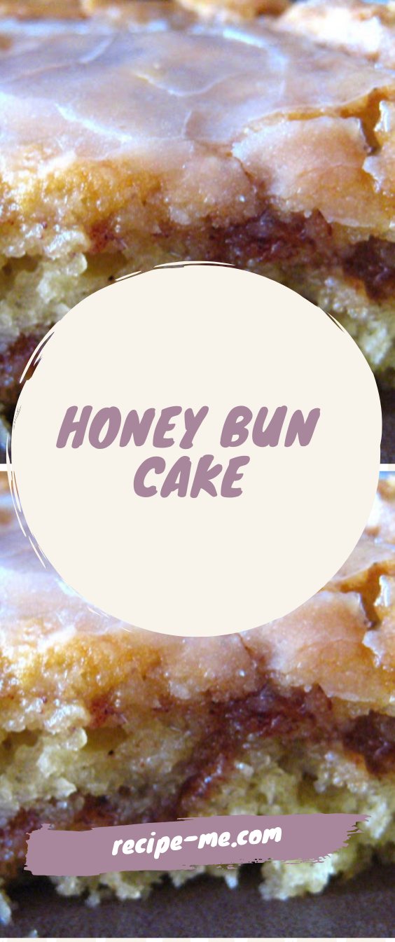 HONEY BUN CAKE #honeycake