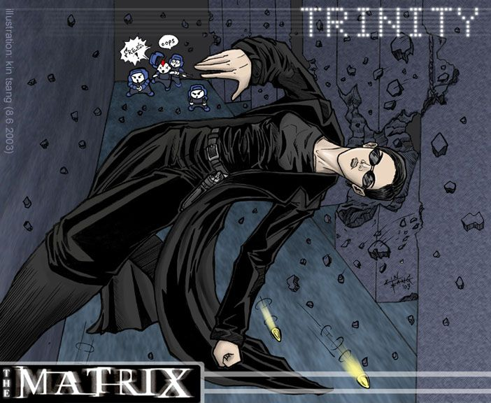 The Matrix Trinity By Https Www Deviantart Com K1n On