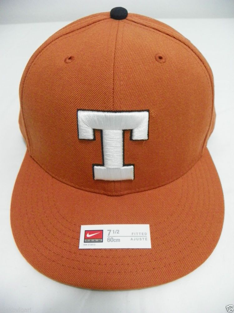 3de4a477416 Nike Texas Longhorns 643 Fitted Hat Cap 7 1 2 60cm NWT  Nike  643FittedHat   TexasLonghorns