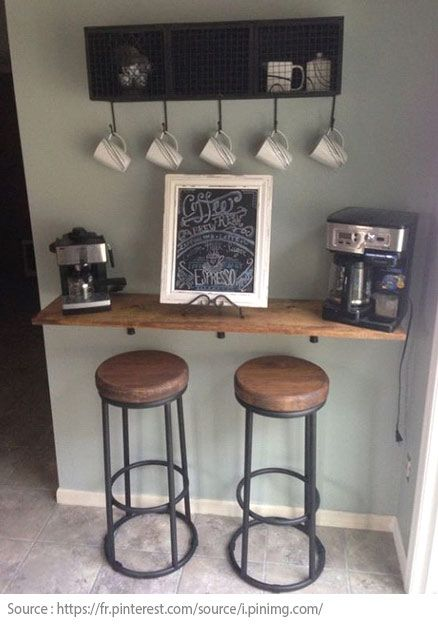 10 ides pour crer un coin th ou caf la maison 10 - Crer Un Bar Dans Une Cuisine