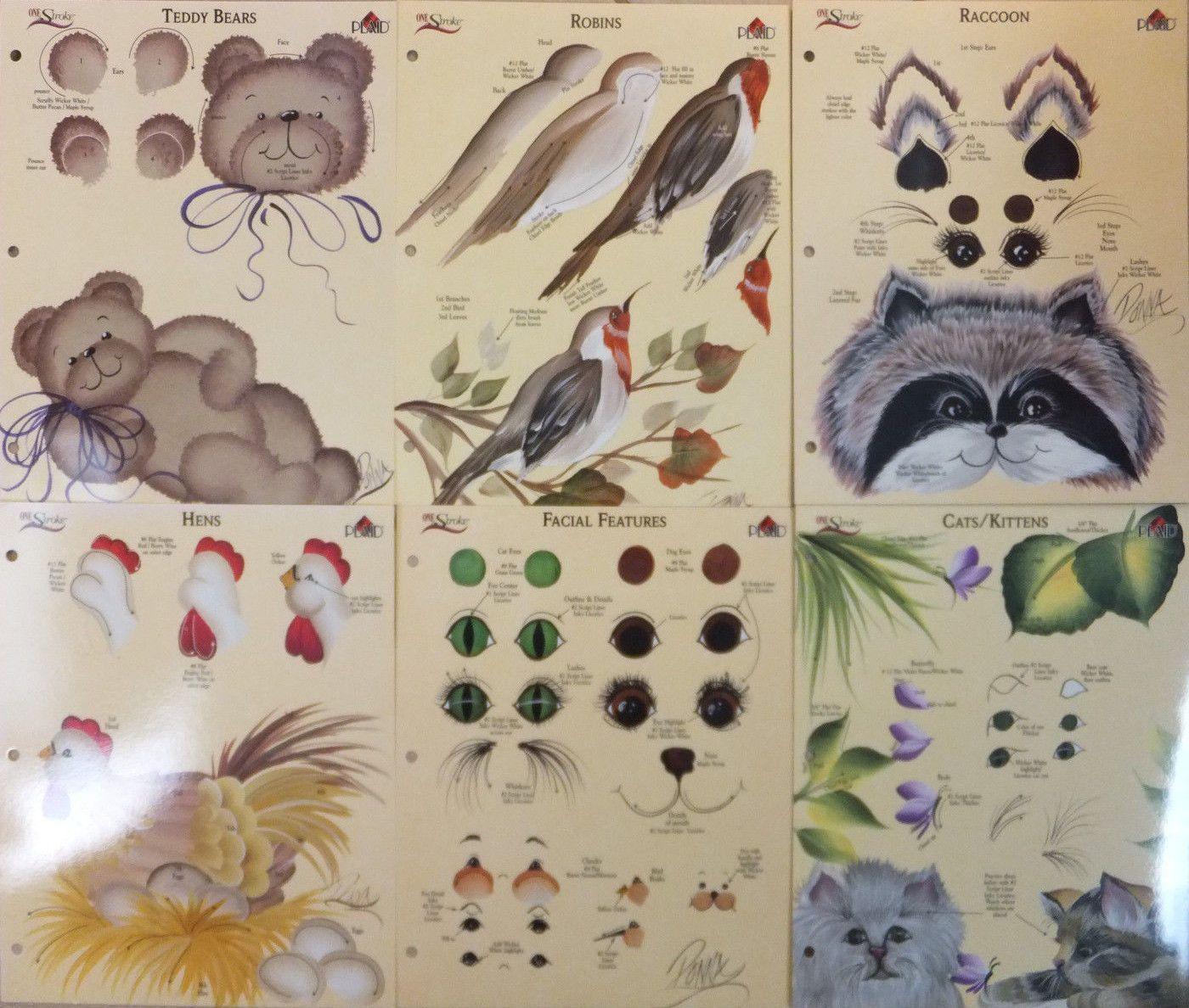 Donna Dewberry One Stroke Painting Rtg Animals Worksheet U Pick