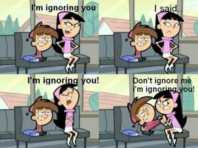 """The Fairly Odd Parents- Timmy Turner and Trixie Tang- """"Don't ignore me, I'm ignoring you!"""""""