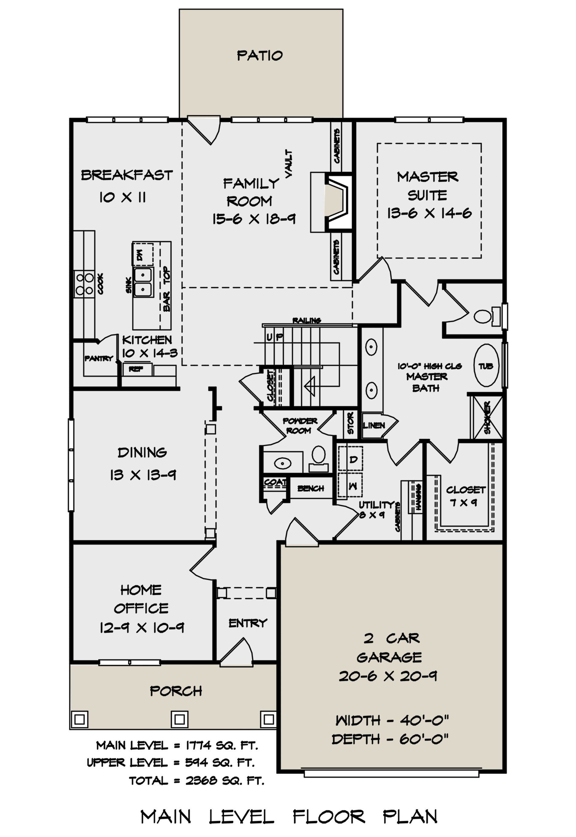 House Plan 6082 00151 Craftsman Plan 2 368 Square Feet 3 Bedrooms 2 5 Bathrooms 5 Bedroom House Plans Narrow Lot House Plans Small House Interior Design