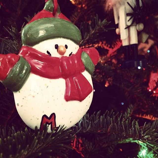 My Christmas ornament!! :) #miamioh #snowman #cute # ...