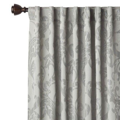 Gray Ogee Window Panel Curtain Drape
