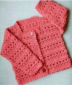 So this is pink, as pink is the forever favorite of the girls so most of us also go for pink when it comes to the baby girls. The picture below has a cute baby dress that has been made with the crocheting, it's looking just adorable. This shirt can be worn with a skirt and can be worn with some jeans as well.