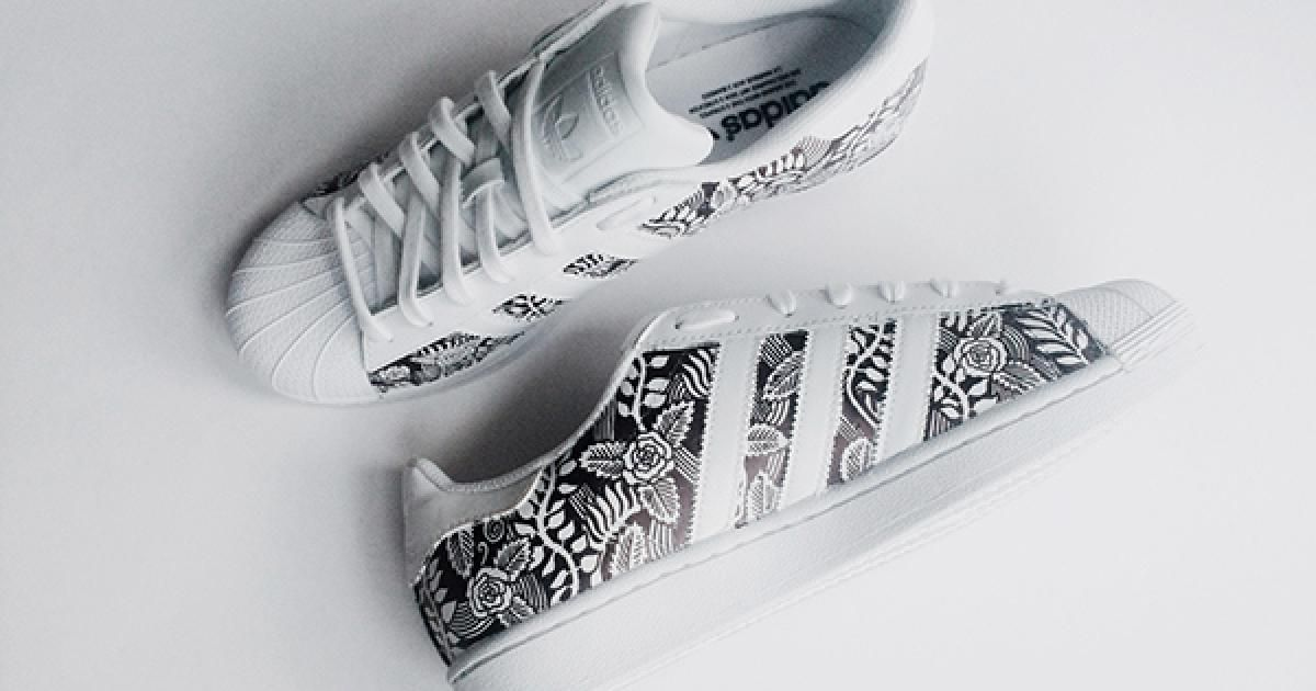 adidas superstar femme blanche or