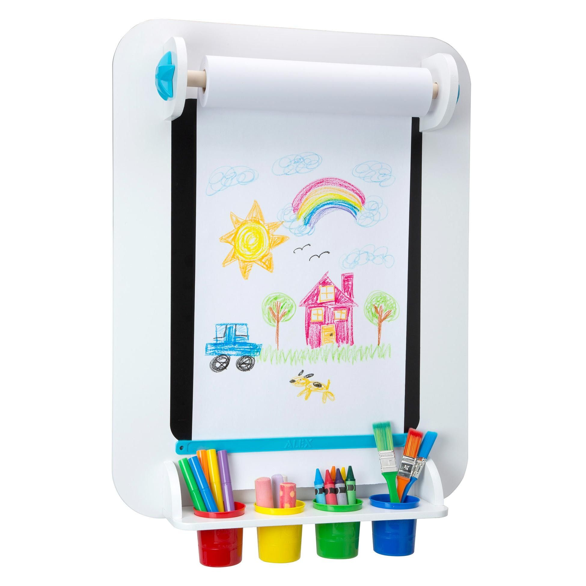 Alex toys my wall easel white 31nb art for kids