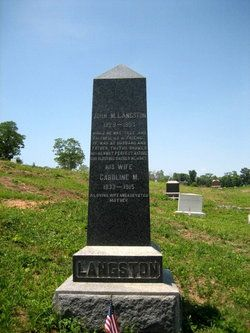 Image result for john mercer langston grave