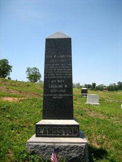 Image result for john mercer langston grave
