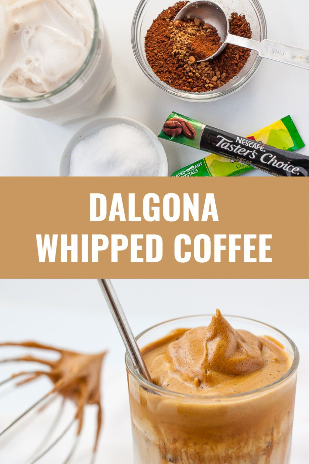 Dalgona Whipped Coffee with Keto option in 2020 Cold