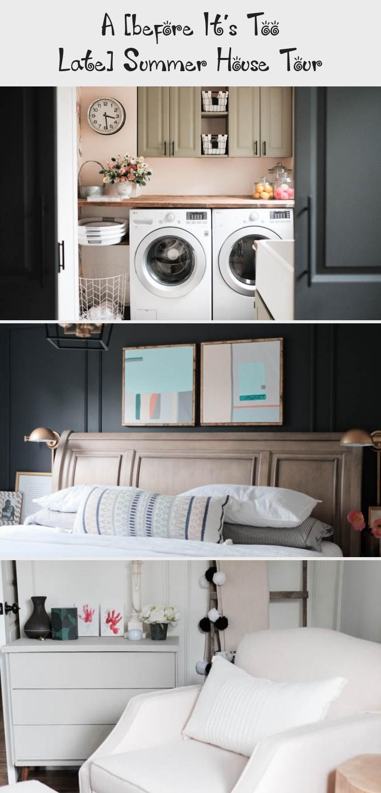 A Before It S Too Late Summer House Tour In 2020 Laundry Room