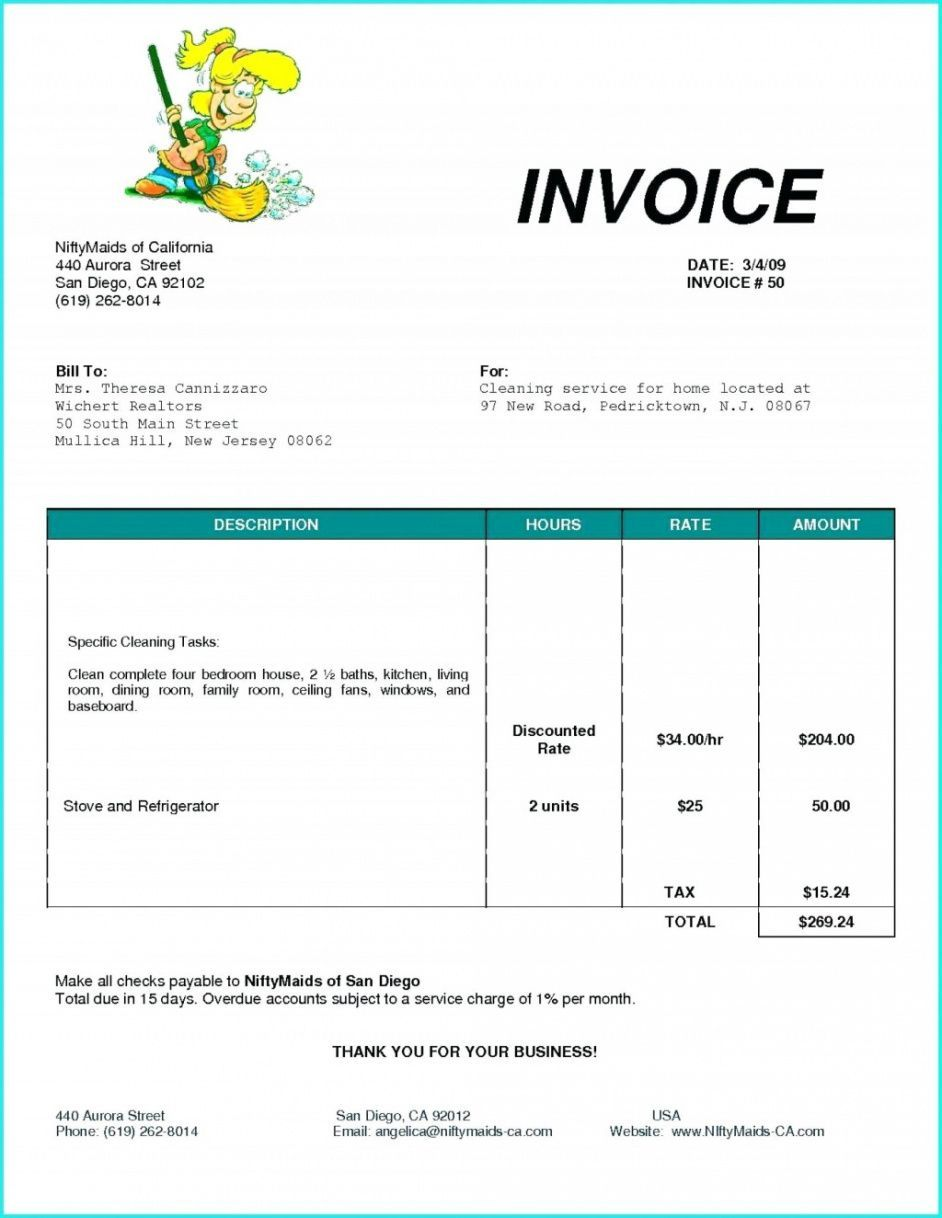 Explore our example of self employed invoice template