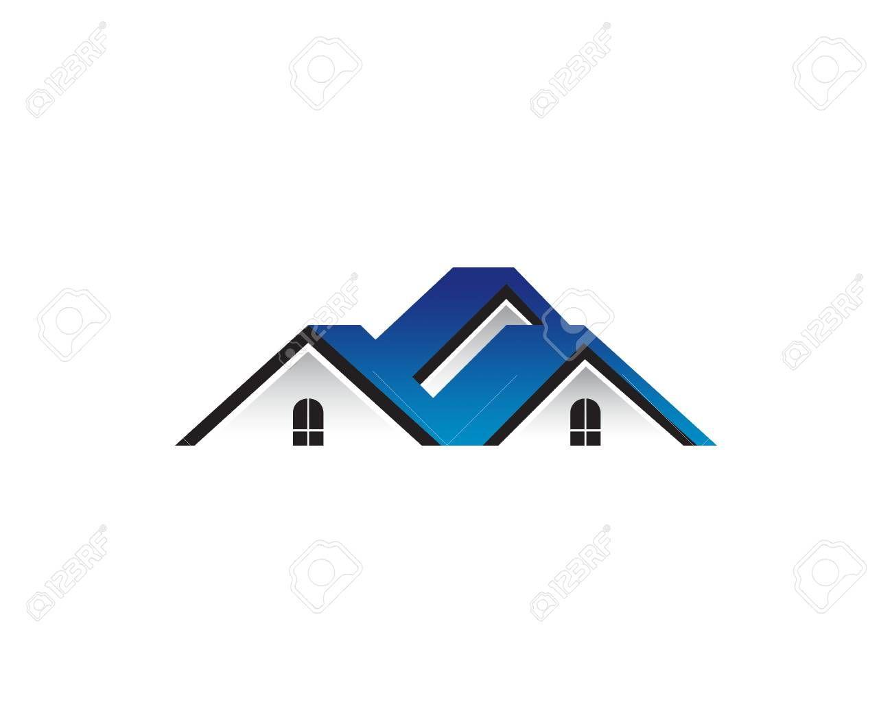 Blue Roof Of Houses Illustration Ad Roof Blue Illustration Houses In 2020 Blue Roof Magazine Template Illustration