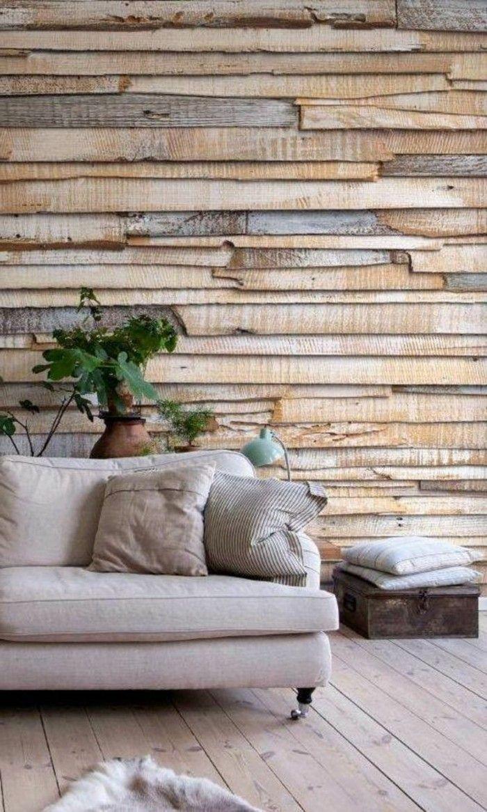 Modernes Wohnen Tolle Wandgestaltung Mit Holz Und Holzboden Schaffen Ein  Gemütliches Zuhause