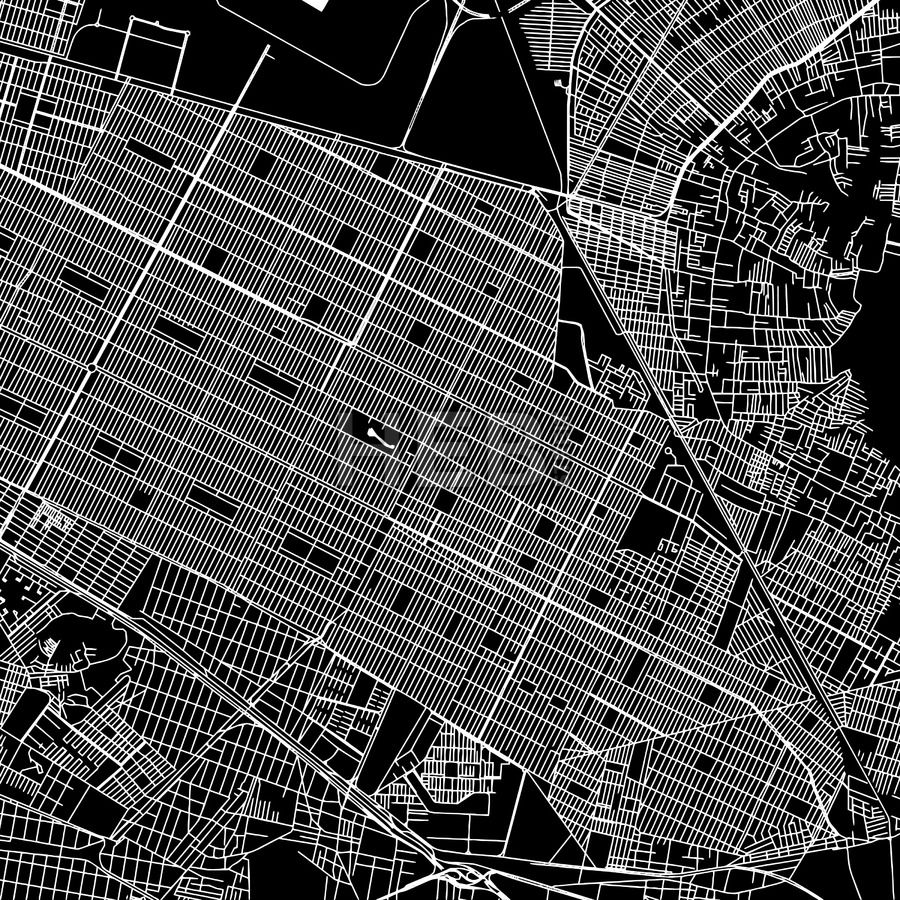 Nezahualcoyotl Mexico Map.Nezahualcoyotl Mexico Downtown Map Dark Maps Vector Downloads