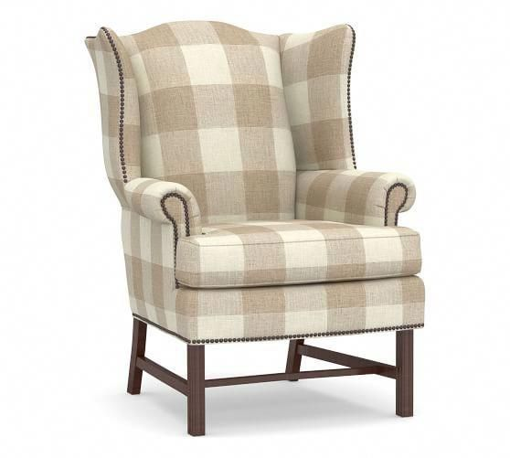 Thatcher Upholstered Wingback Chair In 2020 Wingback