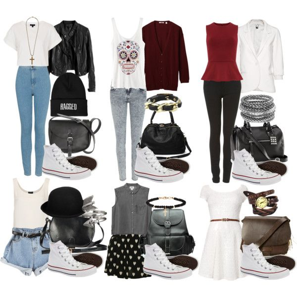 White high tops | White converse outfits, Outfits with