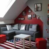 Chambre D Ado De 16 M2 Gris Rouge Deco Chambre Parents