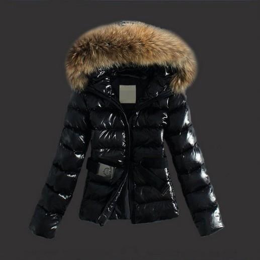 DOUDOUNE Doudoune femme à capuche fourrure parka fourrure manteau femme  hiver Grande Taille classique Noir Duvet Épais avec ceinture 4936e825660