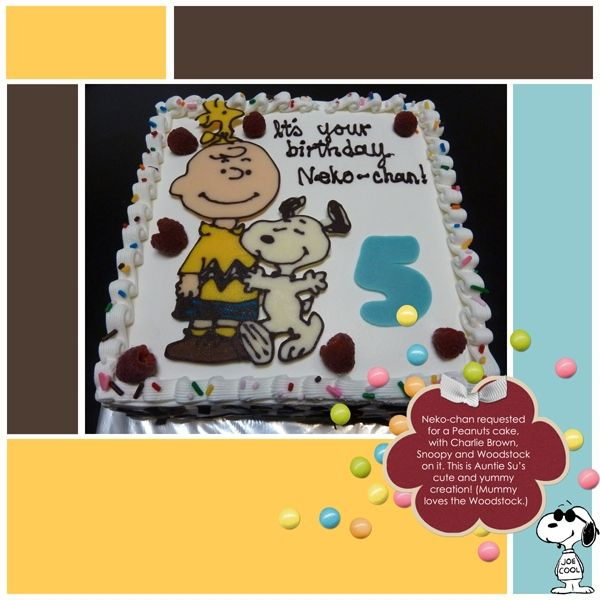 peanutcharactercakes Nekochans Charlie Brown Birthday Cake