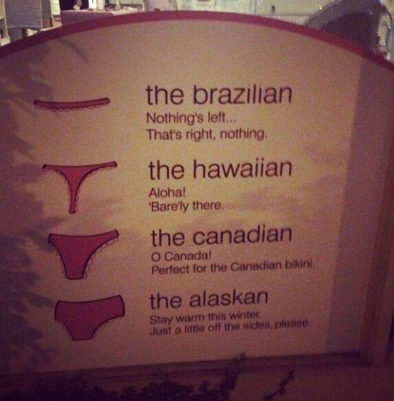 Great Description For Bikini Waxes Brazilian Hawaiian Canadian